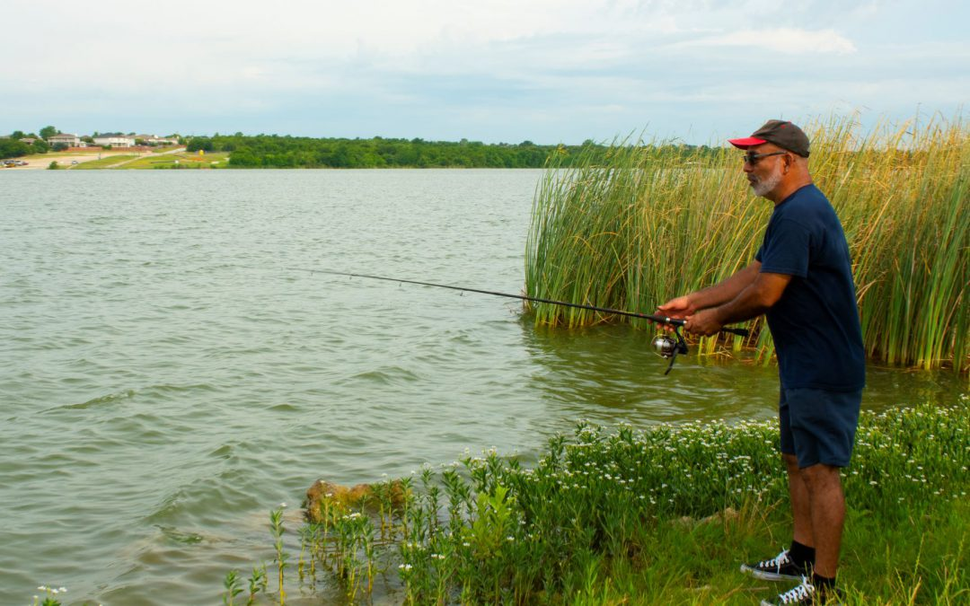Fishing at Marine Creek Lake