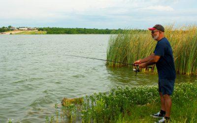 Fishing at Marine Creek Lake