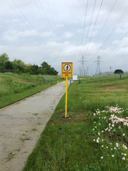 New Locations to Dismount Bikes on the Trinity Trails
