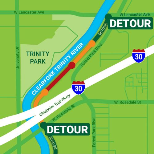 East Bank Trail Closure and Detour
